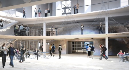 The atrium of the planned 511 Broadway renovation for PNCA/Courtesy of Allied Works