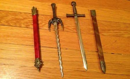 Parent FAIL: In some misguided state, we actually bought these letter openers for the boys at the festival's Tudor Guild Gift Shop in one of our early visits. Can you believe it? I prefer to blame my husband, because I can't bear to take responsibility. They lasted only a brief time before being hidden in a drawer. Don't try this at home!