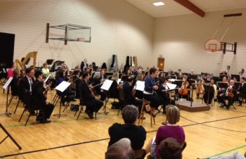 Oregon Symphony  members performed at Portland's St. Mary's School.