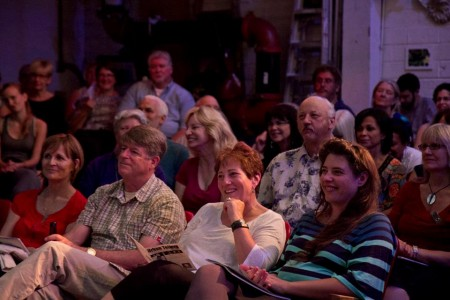 A Portland Story Theater crowd at Hipbone. Photo: Mike Bodin
