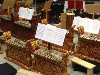 UO School of Music and Dance Balinese gamelan instruments. Photo: OBF Composers Symposium.