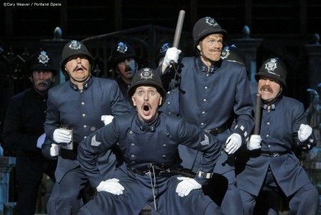 "Justice will be served: the constables of ""Pirates."" Photo: Cory Weaver/Portland Opera"