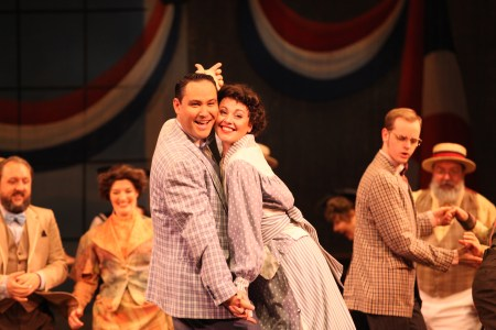 Harold and Marian (Joe Thiessen and Chrissy Kelly-Pettit) cut a rug. Photo: Meg Williams