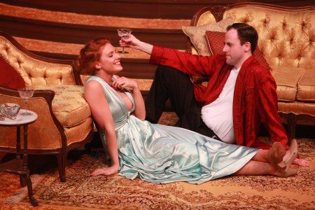 Tracy (Hillarie Putnam) and Mike (Jayson Shanafelt): desire under the alms. Photo: Craig Mitchelldyer