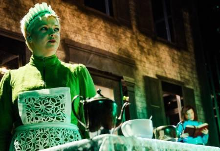 Carrie Cimma as the maid Bridget. Photo: Patrick Weishampel