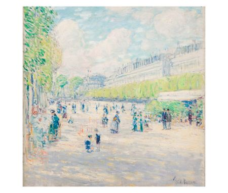 Childe Hassam, Tuileries Gardens, c. 1897, oil on canvas, courtesy High Museum of Art