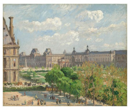 Camille Pissarro, Place du Carrousel, Paris, 1900, Oil on canvas. National Gallery of Art, Washington, D.C.