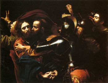 The Taking of Christ by Caravaggio, c1602, National Gallery of Ireland.