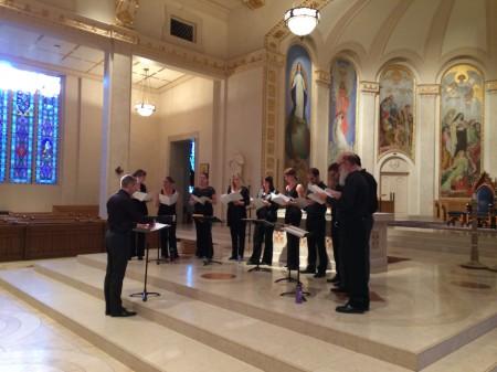 Seattle's Tudor Choir performed in Portland. Photo: Mark Powell.
