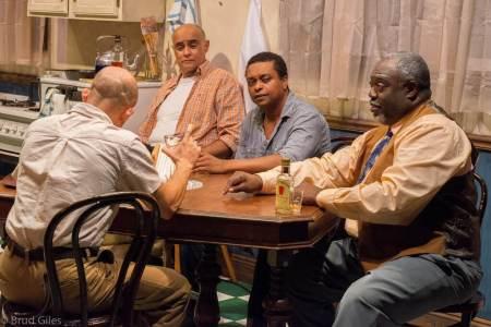 "In the cards: from left, Seth Rue, Mujahid Abdul-Rashid, Bryant Bentley, ""ranney"""