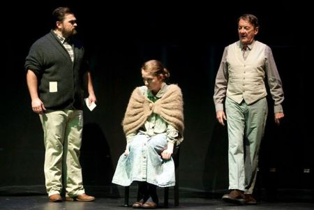 Caught in the middle: Peter Schuyler, Madeline Ogden, David Heath in The Crucible.