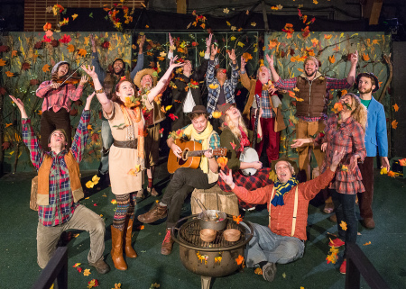 Hail, hail, the gang's all here, spreading a little gleeful autumn in the forest. Photo: Russel J. Young