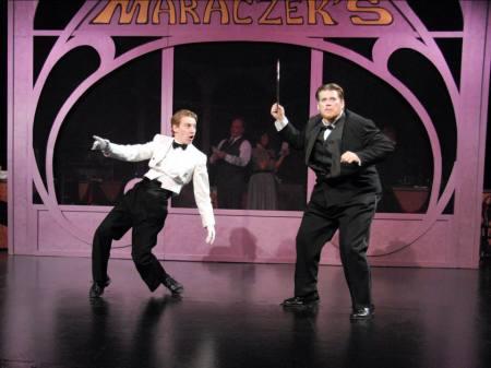 Weaver and Jones: crisis at the café. Photo courtesy Lakewood Theatre