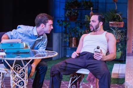 """Ferrucci and Newman in """"True West: brotherly hate. Photo: David Kinder"""