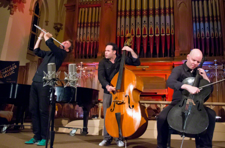 Friends of Chamber Music brought PROJECT Trio to Portland's Old Church. Photo: John Green.