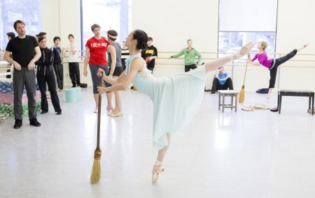 Xuan Cheng in rehearsal as Cinderella. Photo: Blaine Truitt Covert