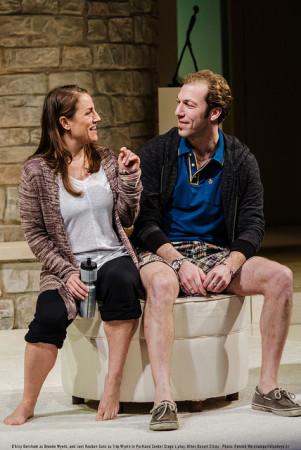 """D'Arcy Dersham and Joel Reuben Ganz in Portland Center Stage's """"Other Desert Cities.""""/Patrick Weishampel/blankeye.tv"""