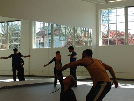 "Rehearsing ""Casual Act"" on Monday in the new studio on 10th Avenue."