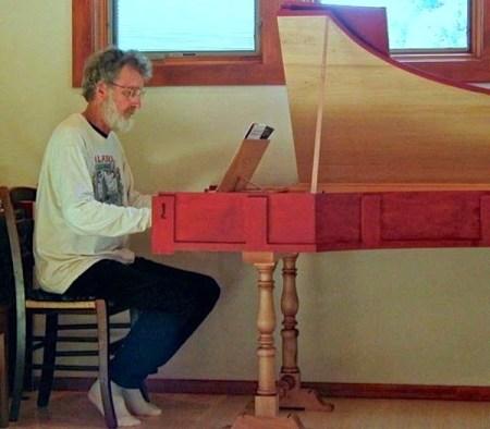 Bhishma at the harpsichord. Photo: Ann Basart.