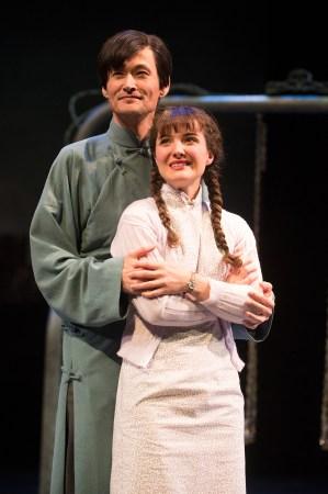 Jiang Binliu (Cristofer Jean) with his love, Yun Zhifan (Kate Hurster). Photo: Jenny Graham.