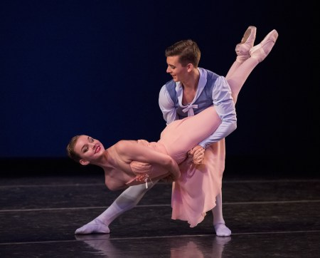 "Medea Cullumbine-Robertson and Nick Jurica in Balanchine's ""Tchaikowski Pas de Deux."" Photo: Blaine Truitt Covert"