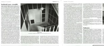 An installation of Willem Oorebeek's Blackouts, as documented in the newspaper, De Witte Raaf.