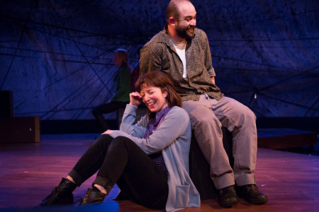 "Maureen Porter and Sam Dinkowitz in Third Rail's ""Static""/Courtesy Third Rail Repertory Theatre"
