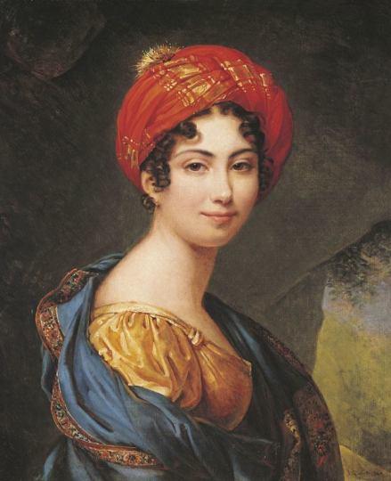 Self-portrait, Julie Duvidal de Montferrier (Countess, Madame Hugo), ca. 1820, oil on canvas, 25.7 x 21.1 inches, École de Beaux-Arts, Paris.