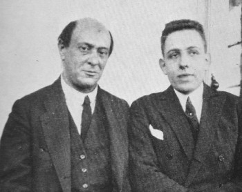 "Poulenc and Schoenberg in Vienna, 1922. From Francis Poulenc, ""My Friends and Myself"",  ©1978, Dobons Books Ltd."