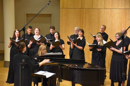 Resonance Ensemble sang music of war and peace in Portland last weekend.