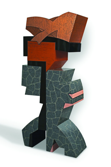 "Mel Katz,  ""Flagstone,"" 1987, plastic laminate over wood, 84 x 42 x 17.5 in., collection of the Tacoma Art Museum/ Photo courtesy of Richard Nicol."
