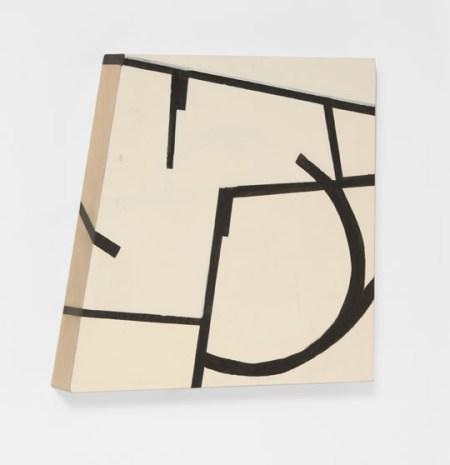 "Judy Cooke, Circuit, 2015 (oil and wax on wood, 14"" x 14"" x 2""), Elizabeth Leach Gallery"