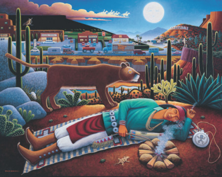 David Bradley, 'Sleeping Indian.' at the Museum of Indian Art and Culture.