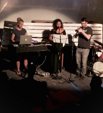 Lanning, Andrews and Detrick performed on Holocene's front-room stage.