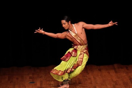 Klinton Haliday performing with Kalabharathi School of Dance at Walters Cultural Arts Center.