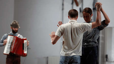 Italian choreographer and theater director Alessandro Sciarroni gives the U.S. premiere of his performance work FOLK-S, Will You Still Love Me Tomorrow? on Friday at TBA:15. Photo: Paolo Porto