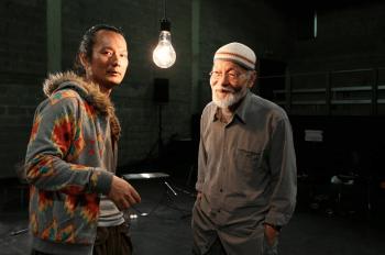 Akio Suzuki & Aki Onda perform at PICA's Time Based Art Festival Monday. Photo: Goran Vejvoda.