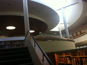 Third Angle performs in the Aalto Library at Mt. Angel Abbey this weekend.
