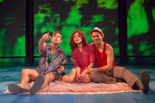 "Jose Luaces, Janet Dacal, and German Alexander in the world premiere of ""Cuba Libre"" at Artists Repertory Theatre./Photo by Owen Carey"