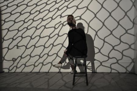 All the world's a studio...Blair Saxon-Hill in her SE Portland studio.