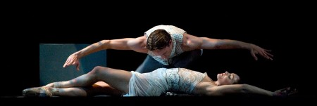 """Guest Artist Amy Watson and Colby Parsons in the world premiere of James Kudelka's """"Sub Rosa."""" Photo: Randall Milstein"""