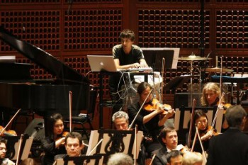 Portland Youth Philharmonic plays music from 'The B-sides' by California composer Mason Bates, pictured here performing in the composition's 2009 premiere with the San Francisco Symphony.