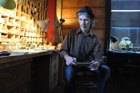 D.E. May in his Salem studio. Photo: Sabina Poole