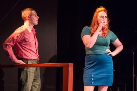 Ryan Monaghan and Jessica Tidd: wo you callin' a dog? Photo: David Kinder