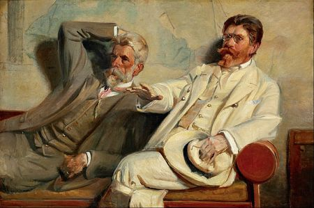 "Michael Ancher, ""Art critics, Study,"" Google Art Project"