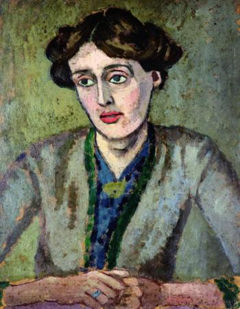 Portrait of Virginia Woolf, by Roger Fry, ca. 1917. Leeds Museum and Galeries/Wikimedia Commons