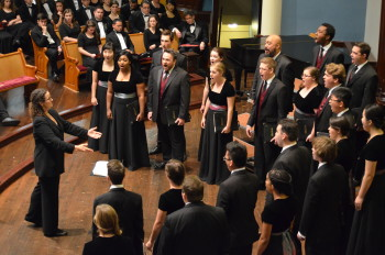 University of Redlands Chapel Singers performed at First Congregational Church.