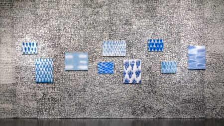 "Julie Green's ""My New Blue Friends"" installation. Photo: Upfor Gallery"