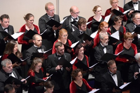 Oregon Repertory Singers performed at Portland's First United Methodist Church.