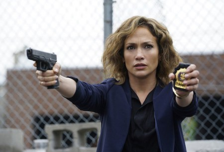 "Jennifer Lopez as Detective Harlee Santos  in ""Shades of Blue""/Photo by: Peter Kramer/NBC)"